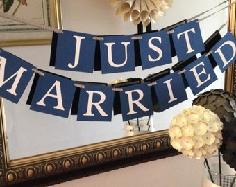 Just Married Wedding Banner - Ready to Ship Today
