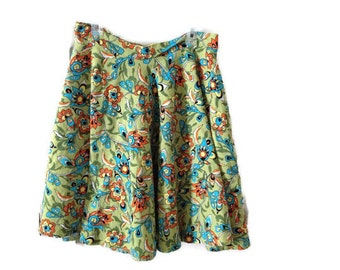 Vintage paisley circle skirt