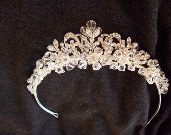 Dreamy Bridal Crystal and Rhinestone tiara petite crown wedding princess queen