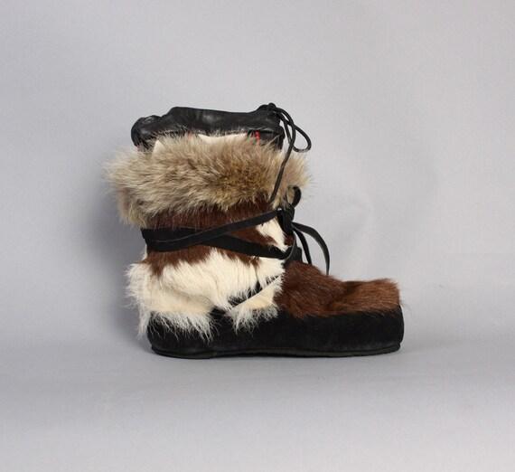 60 ans apres ski bottes de fourrure poils de ch vre fox. Black Bedroom Furniture Sets. Home Design Ideas