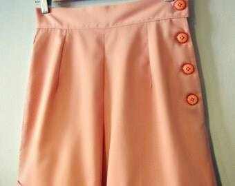 Swell Dame 1950s style women high waist shorts with side buttons or zipper ANY color ALL sizes