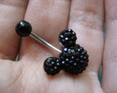 Belly Button Ring Jewelry. Disney Mickey Mouse Black Crystal Belly Button Ring Navel Jewelry Stud Bar Barbell Belly Button Ring Jewelry.