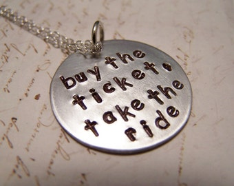 Buy The Ticket, Take The Ride Necklace. Hunter S Thompson, Fear and Loathing in Las Vegas