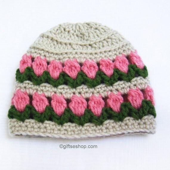 Crochet Pattern Baby Girl Hat Pattern Flower Garden PDF N55