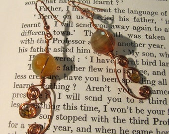 Item 2188 Citrine Copper Wire earrings