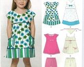 Girls Summer Dress Tunic Shorts Uncut Pattern New Look Kids 6907 Size 3 to 8