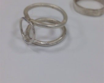 Two Part Stacked Ring: Cage Ring + Band