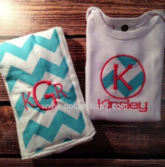 Personalized Baby Gift Sets : Personalized baby gift set of includes a bodysuit and