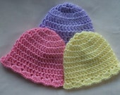 SALE - Easter Crochet - Simple Crochet Hat - CROCHET Baby Hat Pattern - PDF - Boys or Girls - Instant Download - size up to 3 years