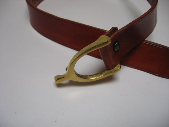 items similar to fix leather belt with bronze buckle on etsy