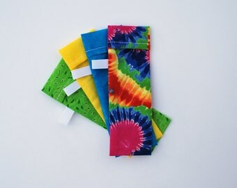 DPN Storage Pocket  Sock Needle Protector  5 inch needles Set of four  gift for knitter Tie Dye