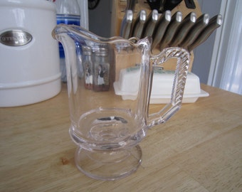 Glass Footed Creamer
