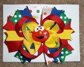 Red Monster  Custom Boutique Hairbows