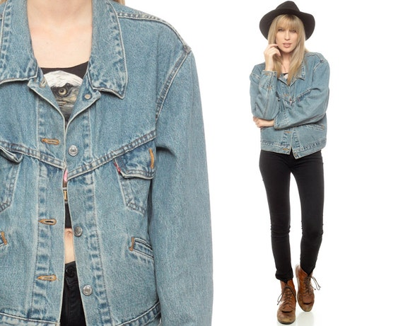 Levis Denim Jacket 80s Jean Jacket Levi Denim Jacket Cropped