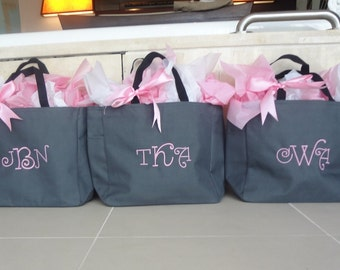 2 Personalized Bridesmaid Gift Tote Bags Personalized Tote, Bridesmaids Gift, Monogrammed Tote