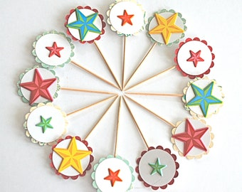 Bright Stars - Cupcake Toppers