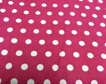 Polka dot print fabric dusty pink