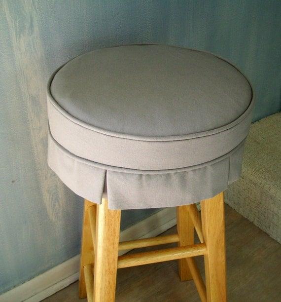 Light Gray Barstool Slipcover with Cushion Box Pleats Washable : il570xN571982132n2hx from etsy.com size 570 x 612 jpeg 66kB