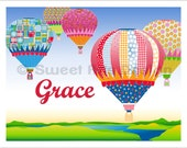 Hot Air Balloons  -  Wall Print  (or)  Greeting Cards
