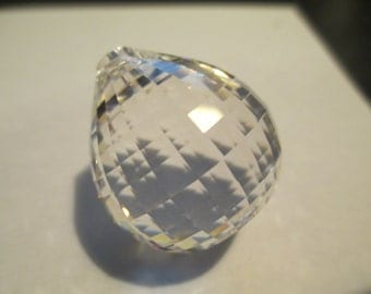 30mm Chandelier Crystal Prism SQUARE Faceted Ball - New Style -Asfour Full LEAD Crystal (S-17)