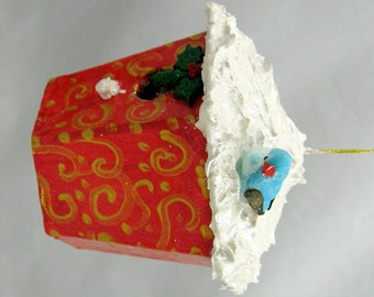 Christmas Birdhouse Ornament 104