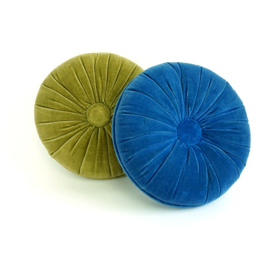 Velvet Tufted Accent Pillows 60s / Your Choice