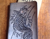 Handmade Koi Fish Leather Field Notes Sleeve with Notebook