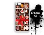 iPhone 5C Chocolate Box iPhone 5C Chocolate Candy Box Heart ValentinesPhone Case  Trim Color Choice