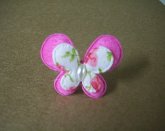 Hot Pink Butterfly Ring - Adjustable