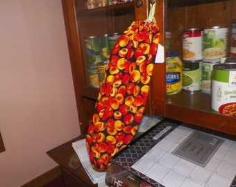 Fruit Bag Holders/ Plastic bag holders/Kitchen decor/ Peaches/Peach bag holder/ gifts/presents/