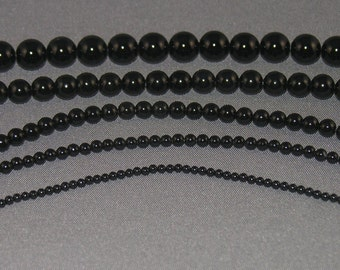 Onyx Beads 2mm 3mm 4mm 6mm 8mm. Each Size The Same Price Per Strand