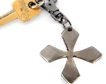 Viking Cross Key Chain / Party Favors, Groomsmen Gift, Birthday Gift / by WATTO Distinctive Metal Wear