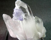 Quartz Crystal Cluster with blue Fluorite / Flourite