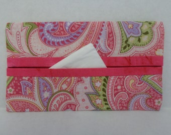 Pink Paisley Tissue Cozy/Gift Card Holder