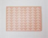 Tan Triangles Print Greeting Card