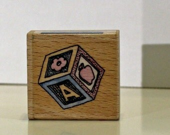 Baby Block Toy Rubber Stamp