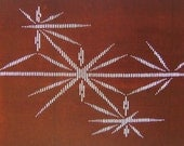 Vintage Japanese Stencil Katagami Stencil for Kimono and Textile Unique Designs