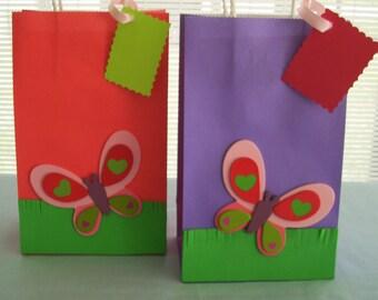 Butterfly favor bags, birthday favor bags, girls favor bag
