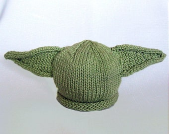 Knit Yoda Hat Cotton Baby Hat great photo prop