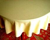 "Linen Tablecloth Pure Natural Solid Even Autumn Maze CORN ButterYELLOW ROUND 68"""
