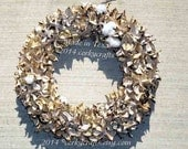 Cotton Burr Wreath/rustic wedding/ Unique one of a kind/ farm house decor - Corkycrafts