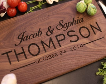 Personalized Cutting Board Newlyweds Christmas Gift Bridal Shower Gift Wedding Gift Engraved (Item Number MHD20017)