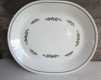 Vintage Holly Days by Corelle Platter
