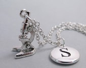 Microscope Charm Silver Plated Charm Supplies