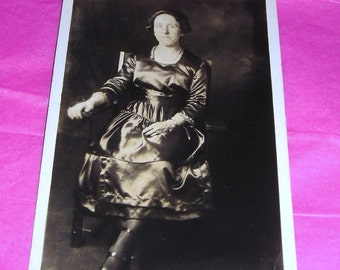 RPPC....Fashion Victim ...... Vintage Real Photo Postcard Ships Free