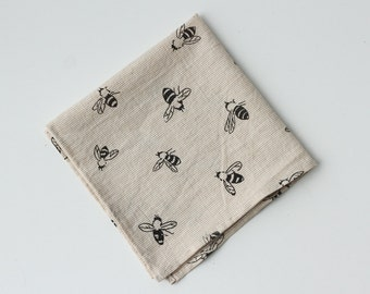 Organic Cotton Handkerchief - Bees