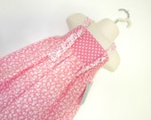 Girls Size 2T Dress Farmers Knot Coral Floral Ready to Ship Sale