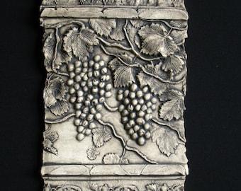 Grapes Ceramic Pottery Fruit Ceramic Relief Porcelain Tile