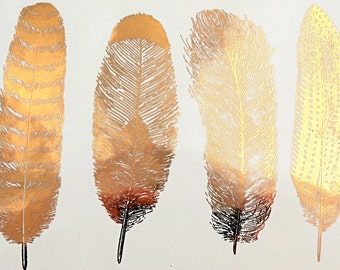 Feathers set 1 - Ceramic Decals, Glass Decals or Enamel Decals