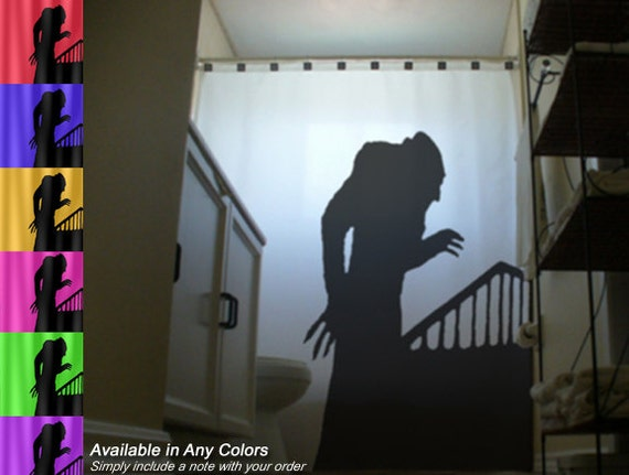 Nosferatu Shower Curtain Vampire Bathroom Decor Kids Bath Symphony of ...